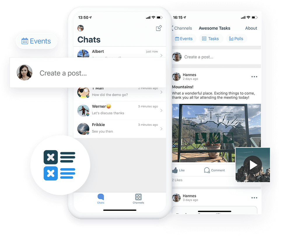 Secure Business Messenger for Conversations, Content and Docs
